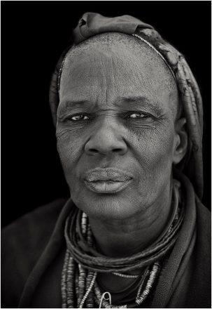 Ovahimba Elder, Epupa, Namibia, 2011, giclee hybrid, 82 x 54 cm, signed in margin