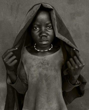 Orphaned Child, Namibia, 2012, giclee hybrid, 83 x 56 cm, signed in margin.