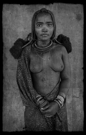 Himba Maiden, Opuwo, Namibia, giclee hybrid, 83 x 56 cm, signed in margin.