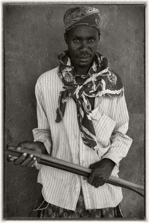 Ovahimba Man with Hermes Scarf, Swartbooisdrift, Namibia, 2011, giclee hybrid, 82 x 54 cm, signed in margin