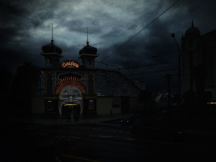 Luna Park 3, Archival Ink Jet Print, 72 x 113 cm, signed and numbered in the margin. Edition of 20.
